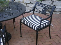 Classic Black & White Seat Cushion