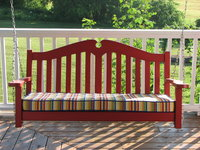 My Front Porch Swing with Cushion