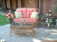 Newly cushioned Love Seat in out door room