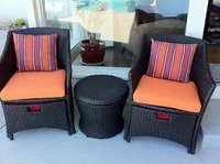 Sunbrella Tangerine Chair Cushions