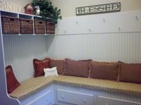 Mudroom bench cushions