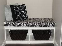 Black and White Ozborne Bench Seat Cushion