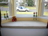 Sunbrella Plush Oatmeal Window Seat Cushion