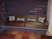 Custom Seating Cushions in Floored Terracotta by Robert
