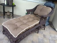 Antique Chaise with Chaise Cushion