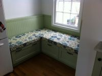 kitchen corner window seat cushion