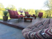 Maroon Patio Cushions