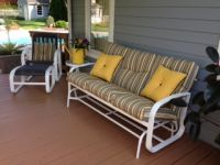 Deck Glider Pillows in Yellow
