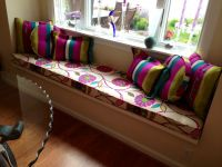 Retro Bench Cushion & Designer Pillows