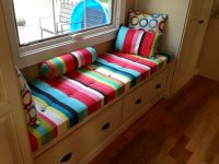 Custom Window Seat Cushion & PIllows