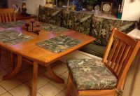 Woodsy Setting with Mossy Oak Fabric
