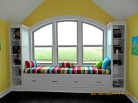 Colorful School Room Window Seat