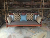 rustic front porch swing