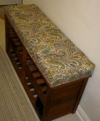 bench cushion in chocolate & natural paisley