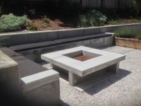 Contemporary Style Fire Pit Area