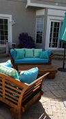 Turquoise Patio Cushions