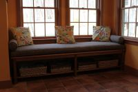 New Window Seat with Cushion and Bolsters