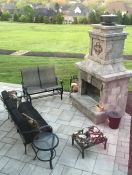 Stone Patio with Deep Seating Sofa