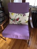 Purple Mid-Century Chair Cushions