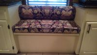 Window Seat Cushion and Bolster