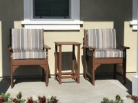 Front Porch Chairs Cushions in Sunbrella Stripes