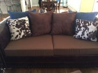 Sofa Replacement Cushions in Robert Allen Fabric