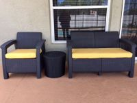 Wicker Seat and Love Seat Cushions in Sunbrella