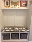 Welted Dog Print Mudroom Bench Cushion