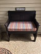 Front Porch Church Bench Cushion in Sunbrella