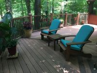 Custom-Shape Adirondack Chair Cushion Pads