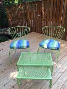 Custom Seat Cushions for Vintage Wrought Iron Set