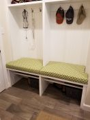Custom Outdura Mud Room Bench Cushions