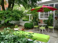 Custom Sunbrella Patio Cushions and Umbrella