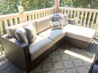 Outdoor Sunbrella Wicker Sofa Replacement Cushions