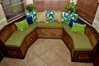Custom-Shape Banquette Cushions Made From Template
