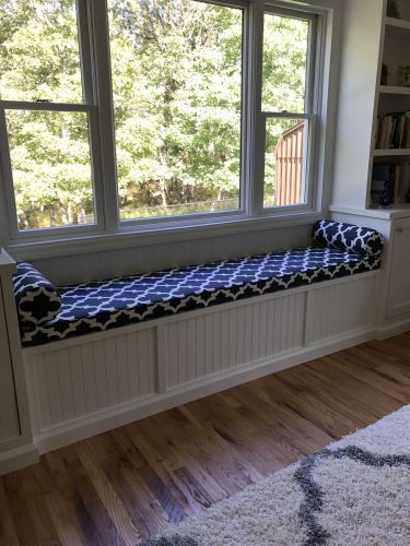 Custom Window Bench Cushion and Pillows