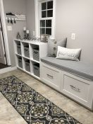 Sunbrella Granite Laundry Room Bench Cushion