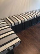 Custom Striped Kitchen Bench Cushions