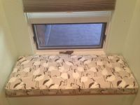 Small Printed Custom Window Seat Cushion