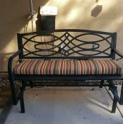 Sunbrella Stripe Patio Glider Cushion