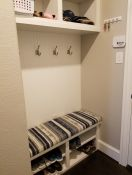 Custom Stripe Mudroom Bench Cushion