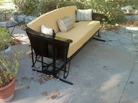Restored Metal Glider with New Sunbrella Cushions