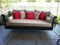 Outdoor Swinging Bed With Sunbrella Cushions