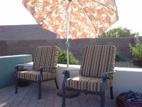 Deep Seat Cushions in Sunbrella Weston Ginger