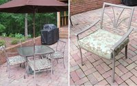 Sunbrella Merritt Mint Seat Cushions for the Patio