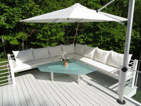 Deck Seating in Sunbrella Sailcloth Salt