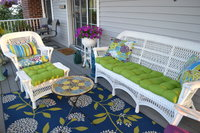 Decked Out Porch Shows Off Sunbrella Macaw Cushions