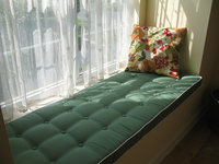 Custom Window Seat Cushion With Buttons