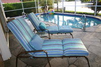 Custom Sunbrella Chaise Lounge Cushions & Pillows