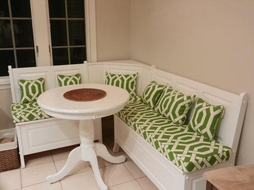Custom Kitchen Nook Bench Cushions & Pillows | Customer Photo